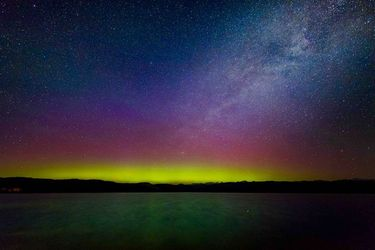 Aurora borealis over Wyoming. Photo by Dave Bell.