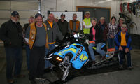 Cindy Mitchell was the winner of the 2018 Pinedale Lions Club Snowmobile Raffle. Photo courtesy Pinedale Lions Club.