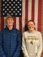 Trevor D. Moritch and Katelyn Hayward are the 1st and 2nd Place Winners in the Voice of Democracy Audio Essay Competition. Photo courtesy Rose Robertson.