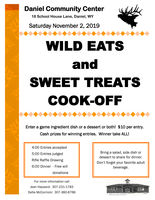 Wild Eats and Sweet Treats Cook-Off Nov. 2, 2019