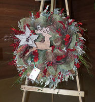 25th Annual Museum of the Mountain Man Holiday Wreath & Chocolate Auction. This wreath was made by Julie Early.
