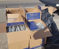 Sweetwater County Sheriff's Office deputies confiscated over 200 pounds of marijuana found during a traffic stop on Interstate 80 near Rock Springs recently. Photo courtesy Sweetwater County SO.